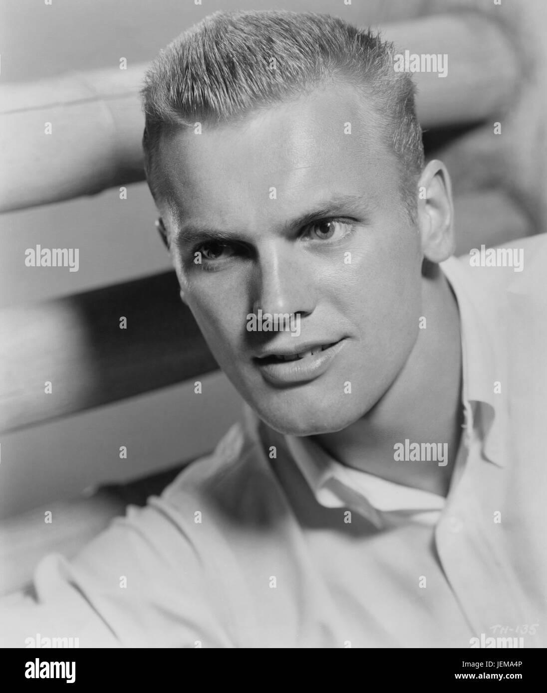 Tab Hunter, Warner Bros. Publicity Portrait for the Film, 'Damn Yankees', 1958 - Stock Image