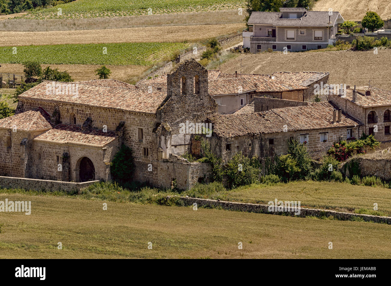 Convent of Santa Maria de Vadillo founded in the twelfth century by the archpriest of the town of Frías in - Stock Image
