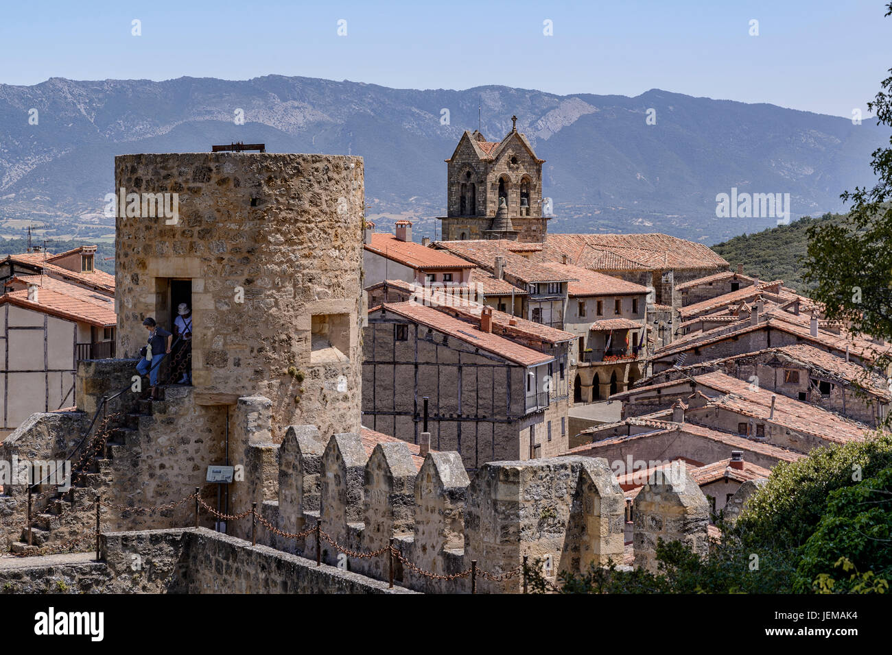 Panoramic view of Frias, Burgos, Castile and Leon, Spain - Stock Image