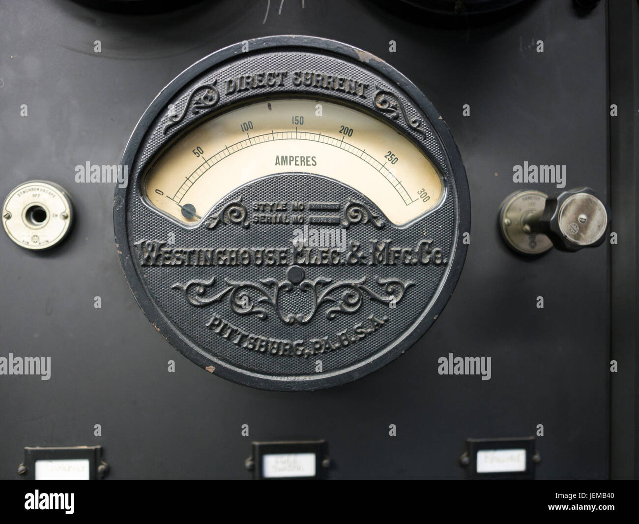 Ammeter Stock Photos Images Alamy Current In A Series Circuit The Reads 01a When Switch Is Old Westinghouse Dc An Direct Measures Amps