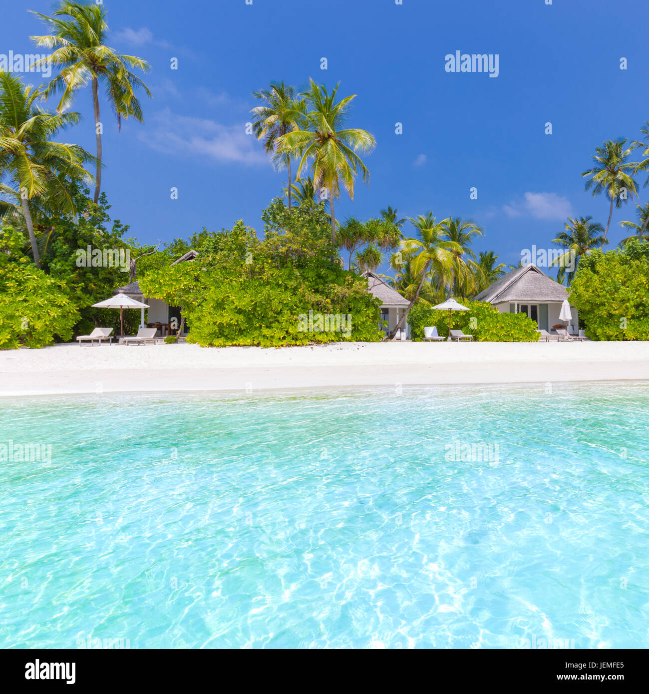 Beautiful beach landscape. Summer holiday and vacation concept. Inspirational tropical beach. Beach background banner Stock Photo
