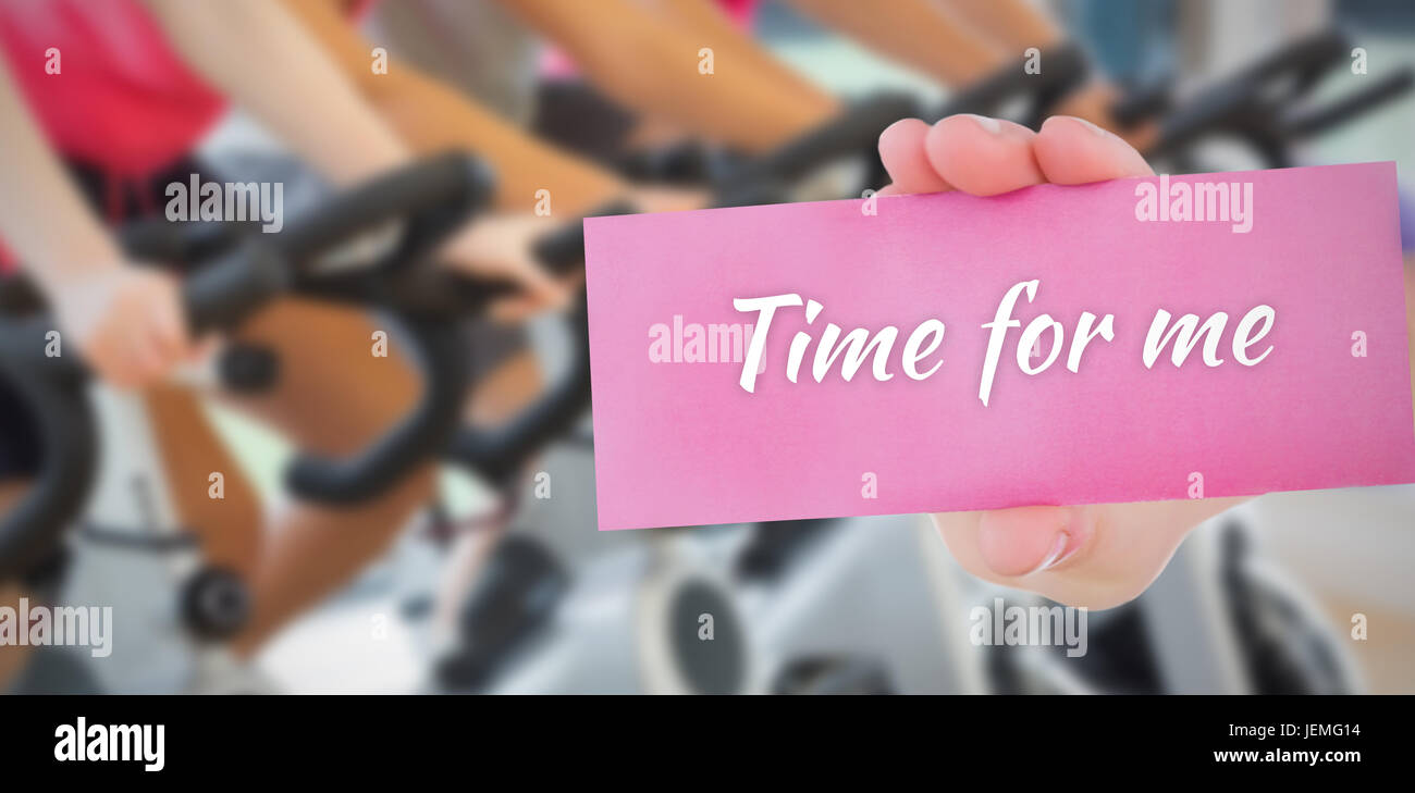 Time for me against people background - Stock Image