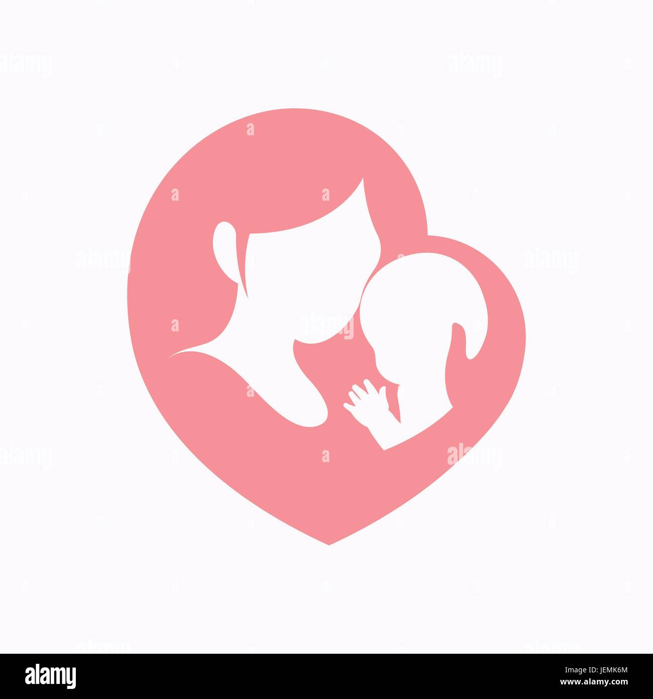 Holding Baby Stock Vector Images - Alamy