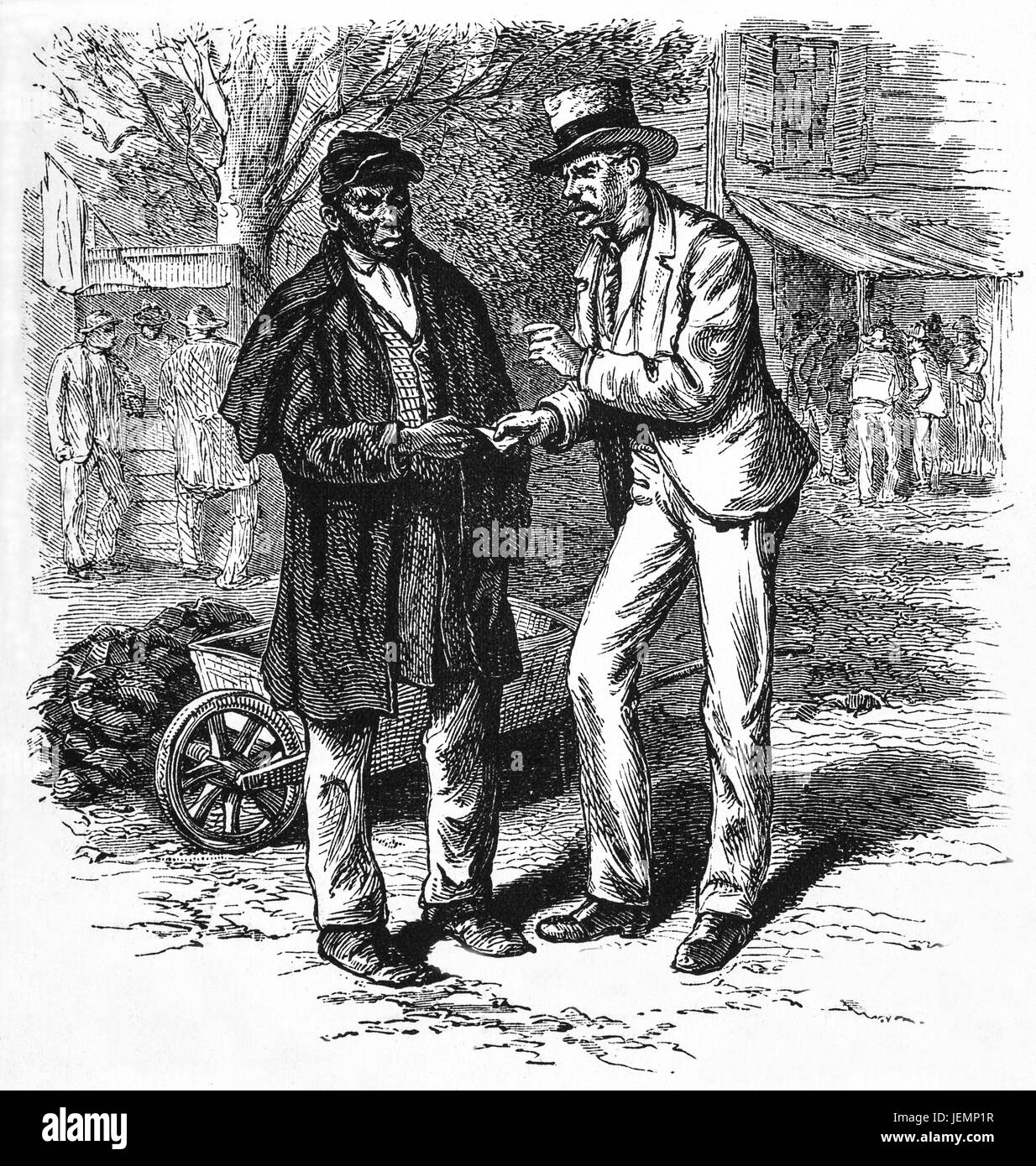 1879: An extreme radical delegate, also known as a Readjustor cajoling votes for the Lower House of the Virginia - Stock Image