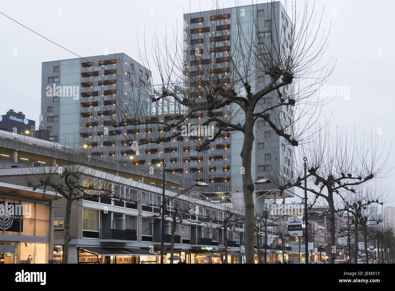 Hochhaus in Rotterdam - Stock Image