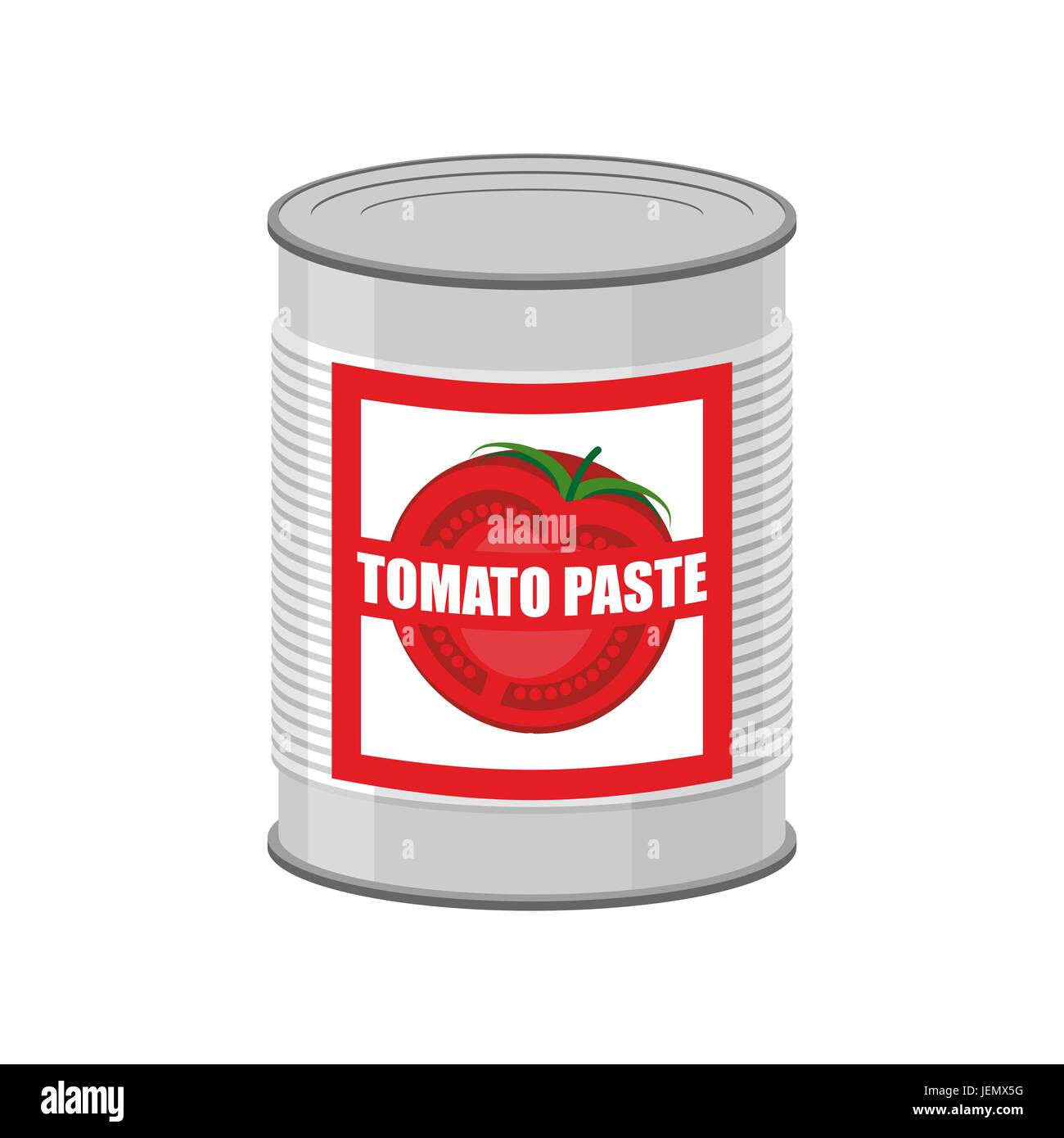 Tomato paste tin can. Canned food with tomatoes - Stock Vector