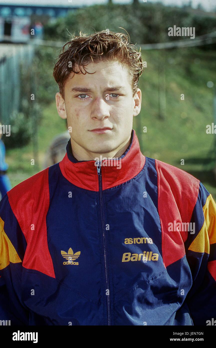 Francesco Totti (Roma), 1992/1993 - Football/Soccer : Francesco Totti of AS Roma in Italy. Credit: Maurizio Borsari/AFLO/Alamy - Stock Image