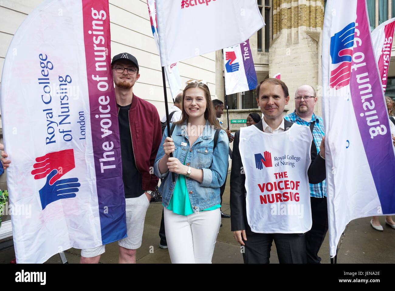 London, UK. 27th June 2017 . Royal College of Nursing London will be kicking off the Summer of Protest Jeremy Hunt Stock Photo