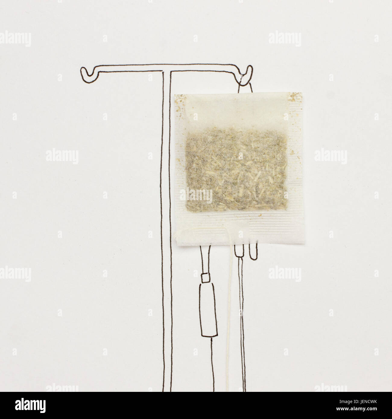 Conceptual IV transfusion drip - Stock Image