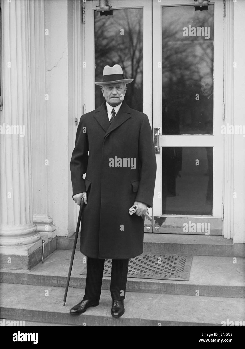 John J. Pershing, Portrait at White House, Washington DC, USA, Harris & Ewing, 1932 - Stock Image
