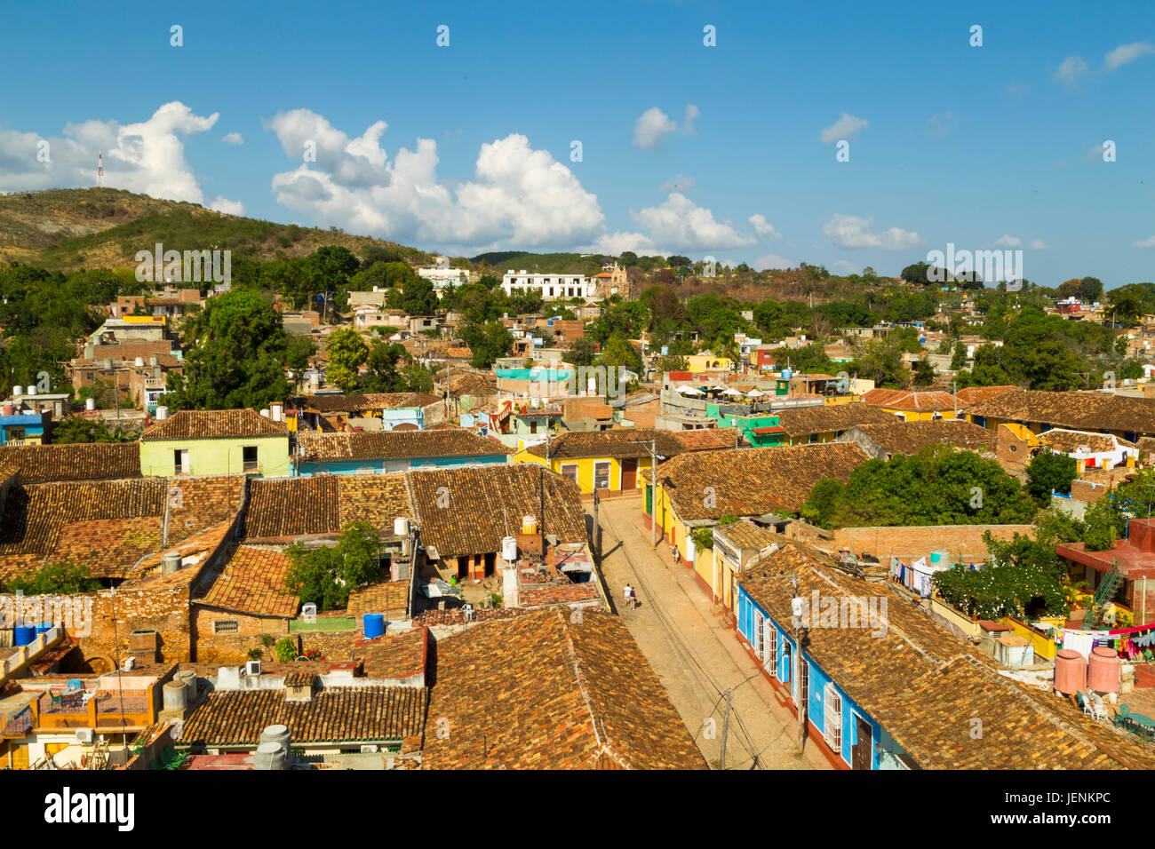 Wide view of the town Trinidad, Cuba - Stock Image