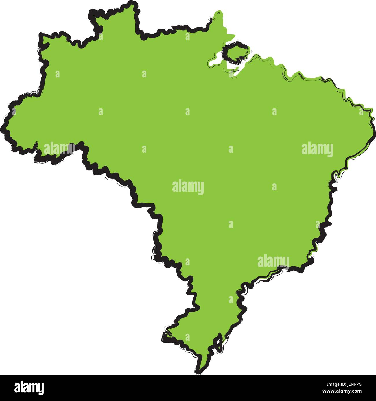 map of brazil cartography geography tourism travel - Stock Image