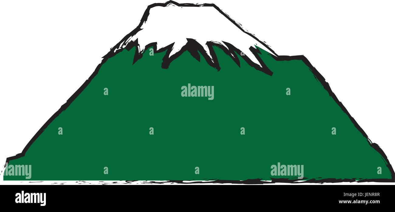 mountain snow peak natural landscape image - Stock Vector