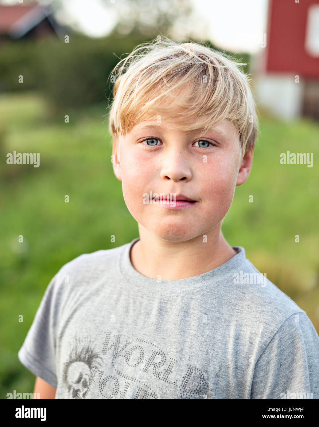 Portrait of boy - Stock Image