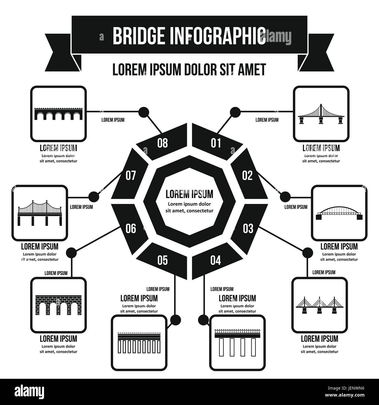 Simple Beam Bridge Stock Photos Images Diagram Infographic Concept Style Image