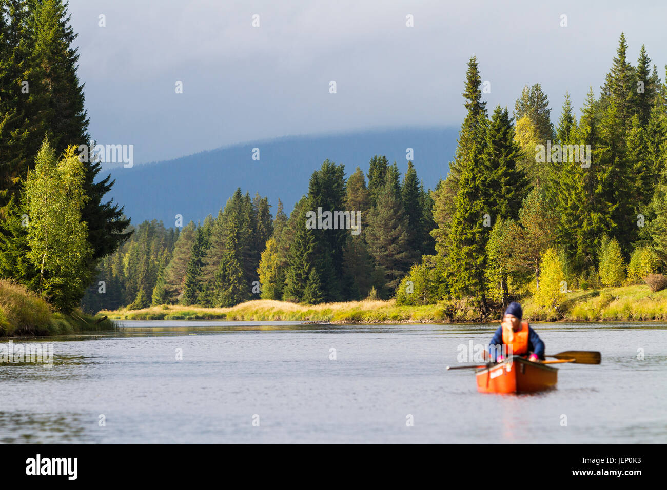 Person kayaking - Stock Image
