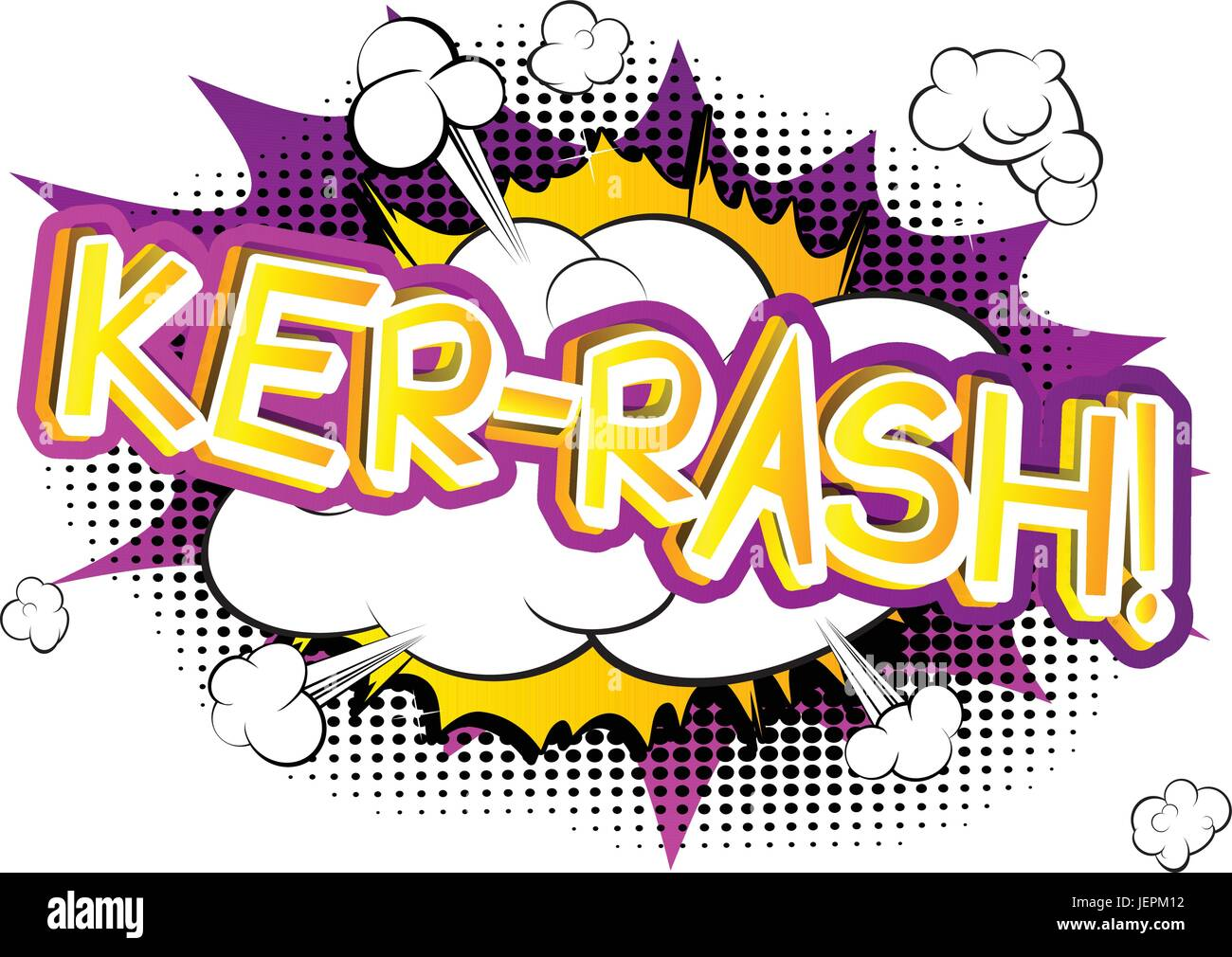 Ker-Rash! - Vector illustrated comic book style expression. - Stock Image