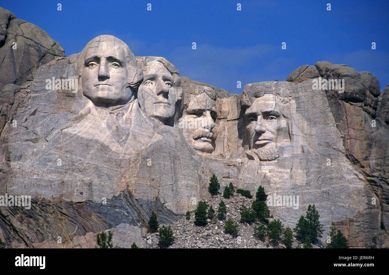 Mount Rushmore monument, the USA, Mount Rushmore Monument, USA Stock Photo