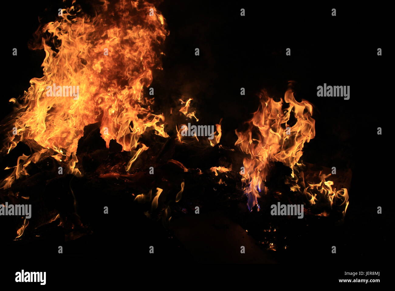 Incredible clear quality photo of an angry fire. - Stock Image