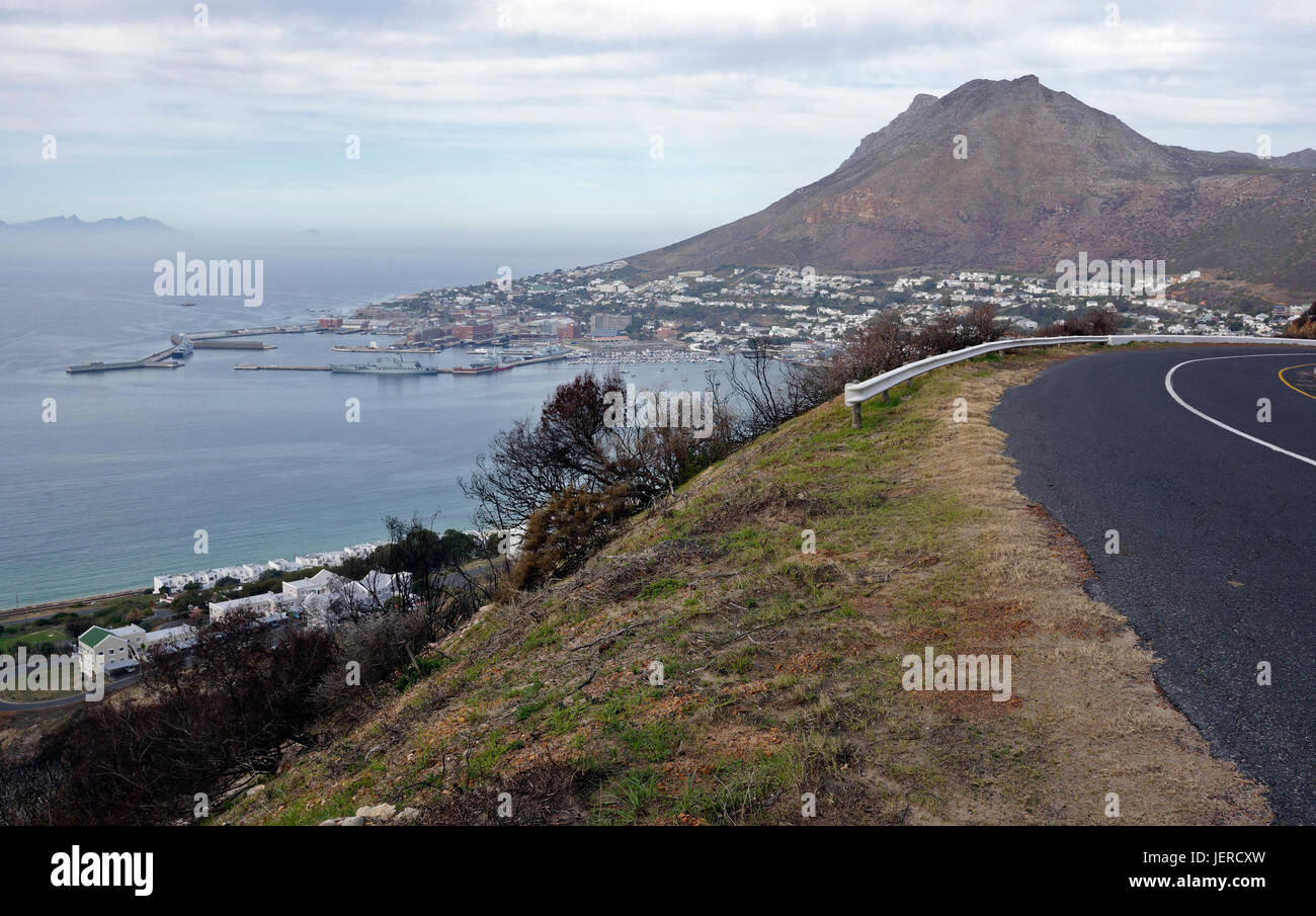 View of Simon's Town Naval base , Cape Town, South Africa. - Stock Image