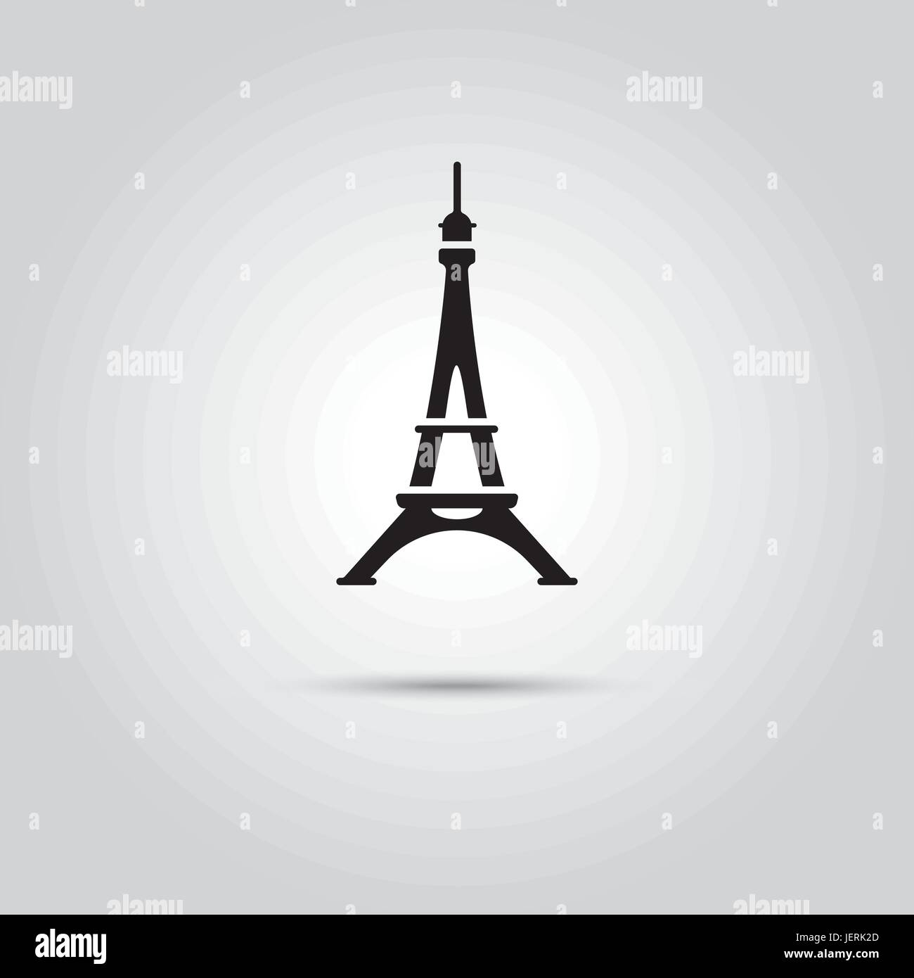 Eiffel Tower at paris, France. EPS 10 Vector icon. - Stock Vector