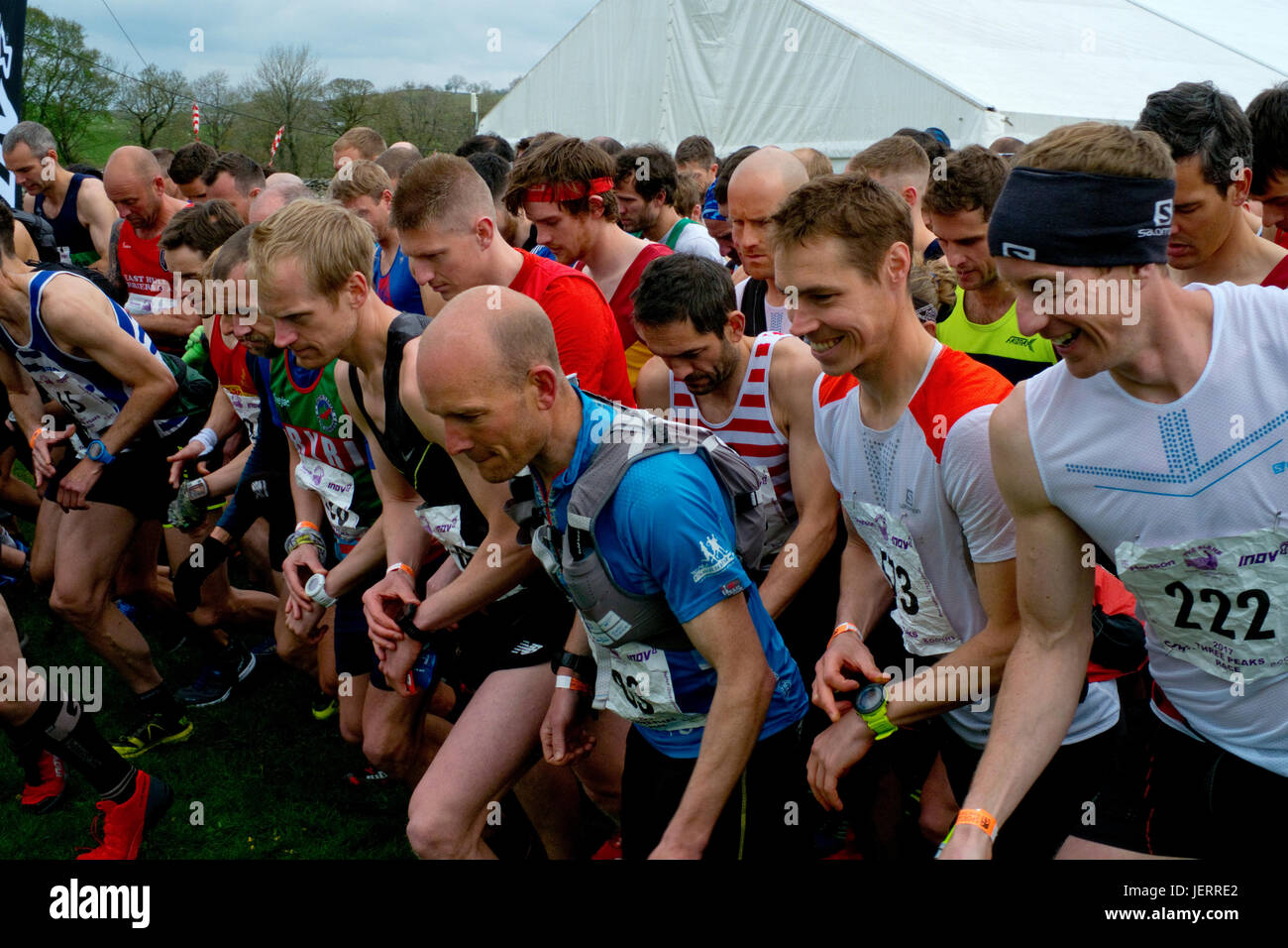 Three Peaks Race competitors - Stock Image