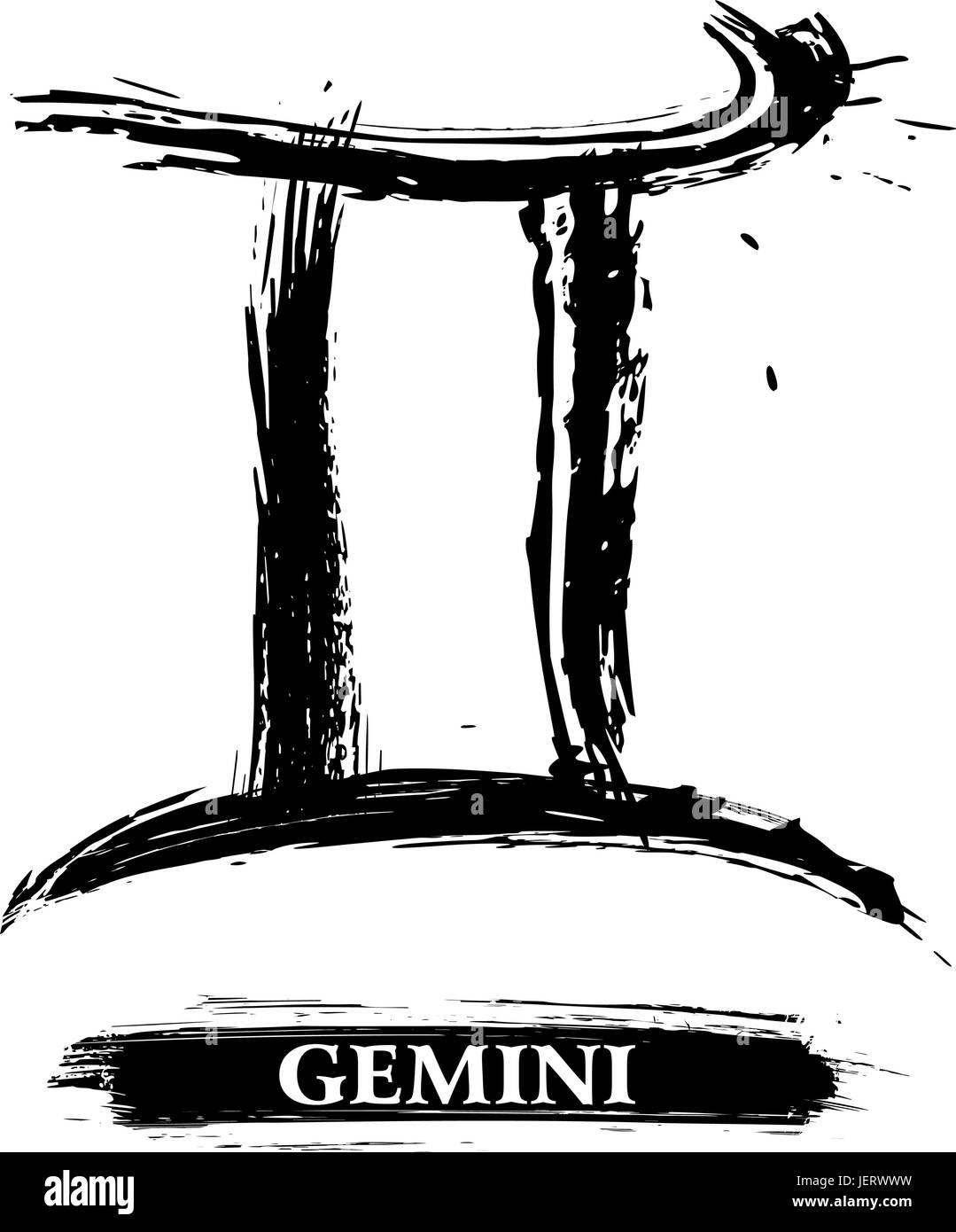 Astrology Twins Zodiac Horoscope Sign Gemini Pictogram Symbol
