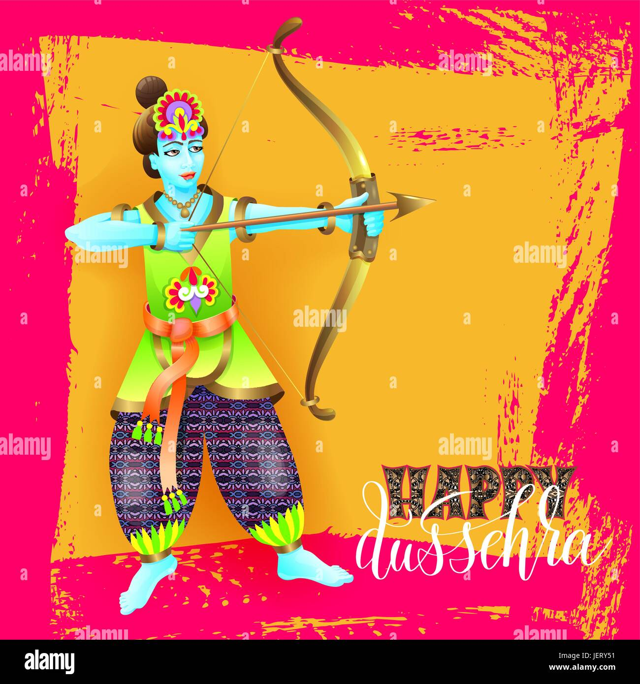 Happy dussehra greeting card design with the god krishna stock happy dussehra greeting card design with the god krishna m4hsunfo