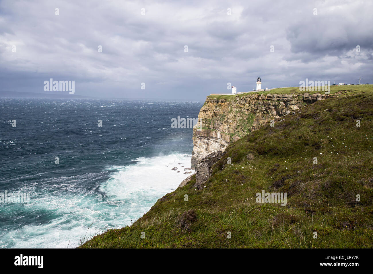 Dunnet head most northerly point in Britain - Stock Image