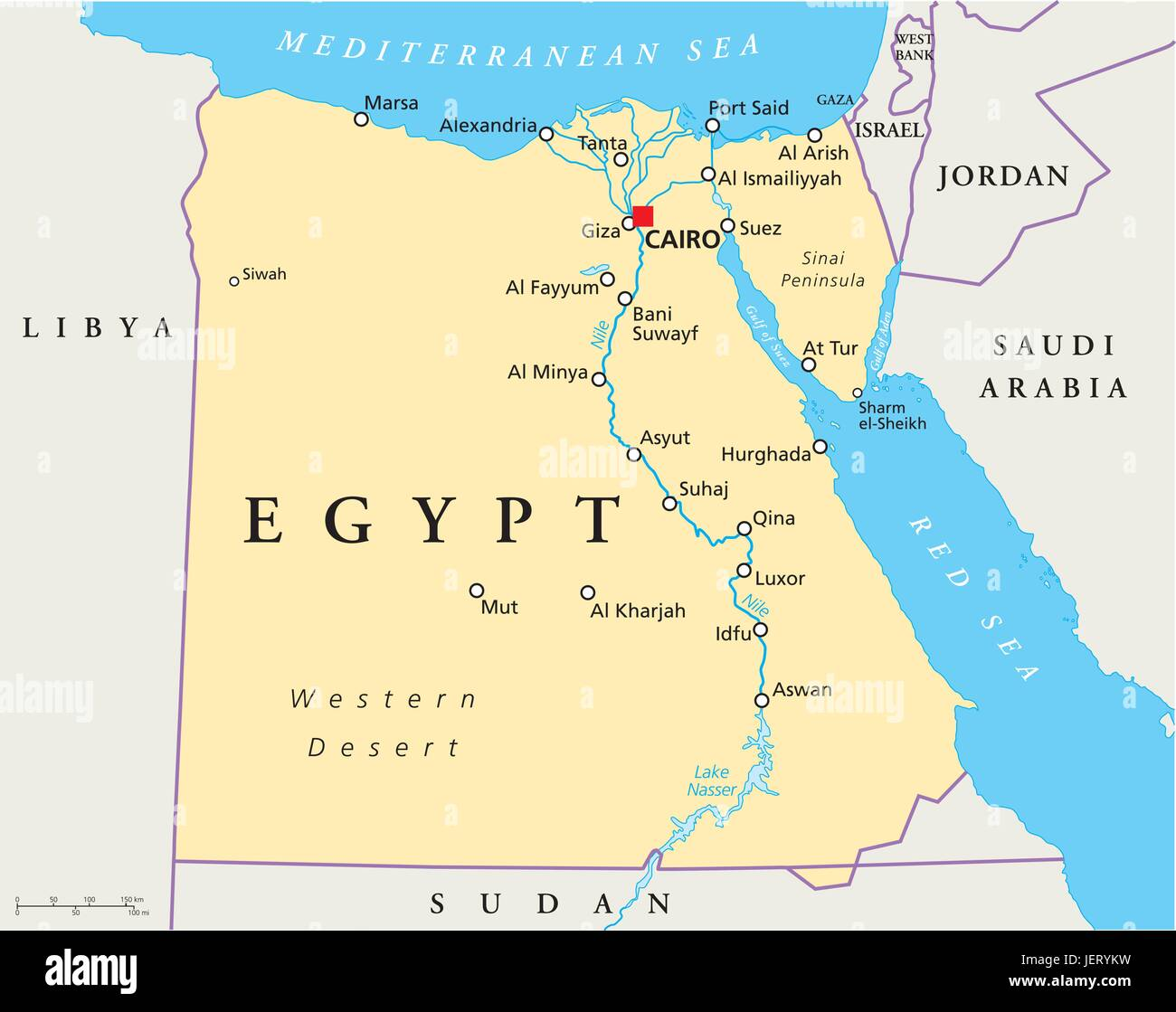 Nile River Map Stock Photos & Nile River Map Stock Images   Alamy