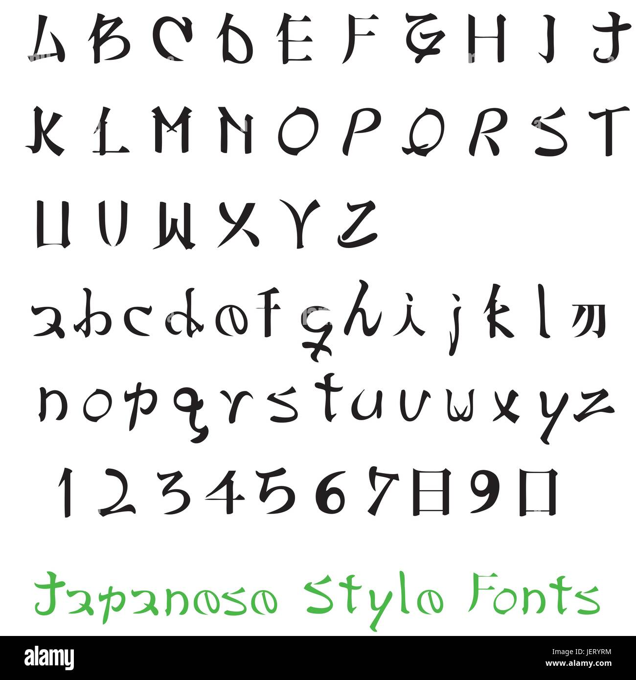 Writing Font Typography Letter Japanese Japan Language Alphabet Type