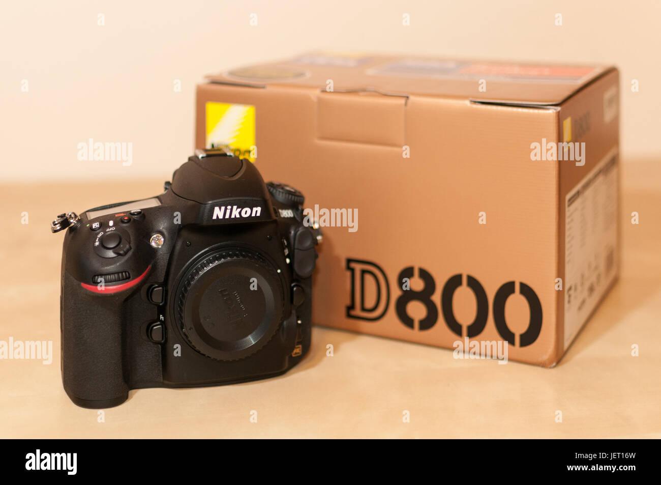 Nikon D800 DSLR With Box - Stock Image