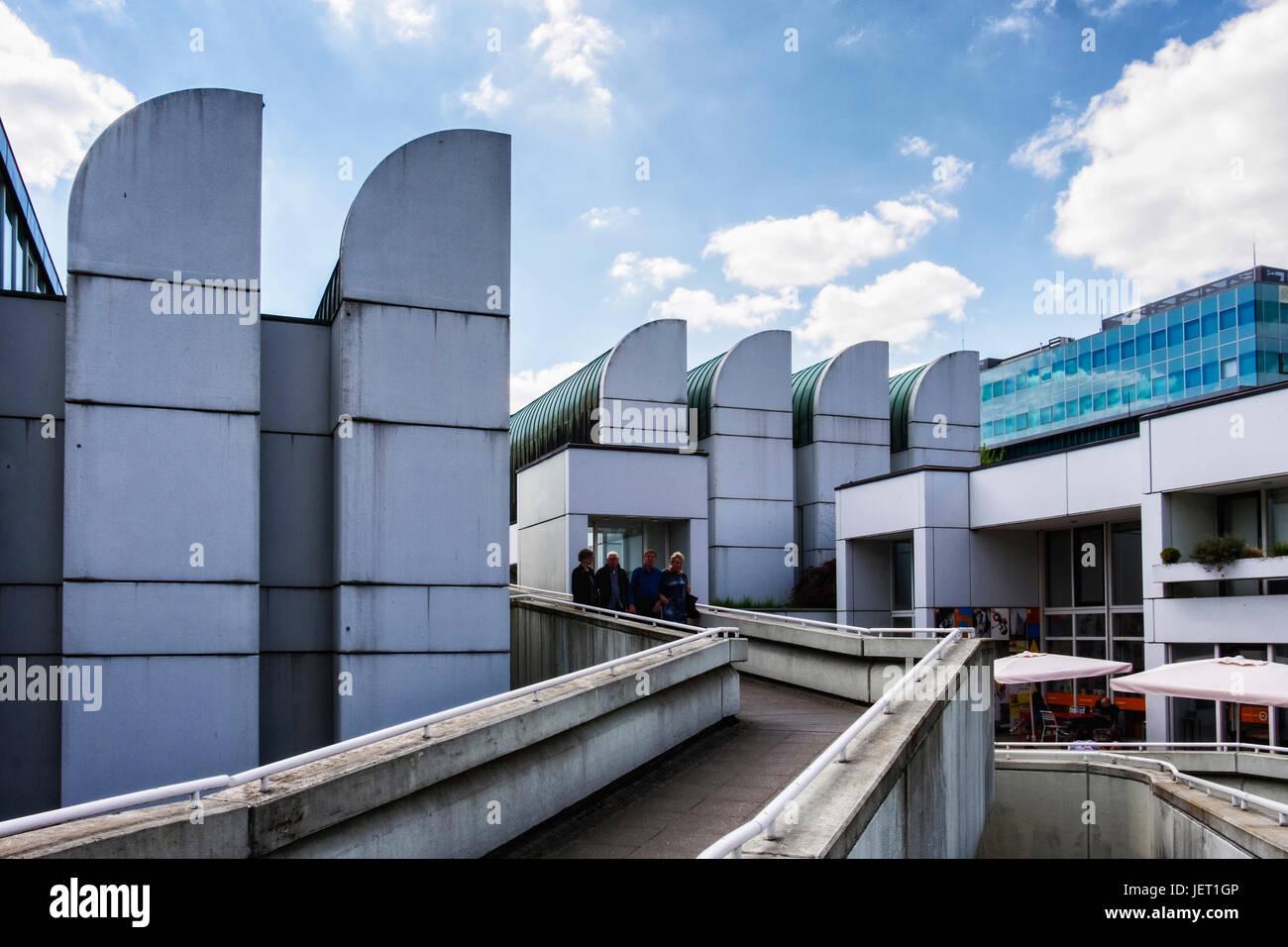 Berlin,Tiergarten.The Bauhaus building, Bauhaus Archive,Museum of design is a documentation centre with exhibition - Stock Image