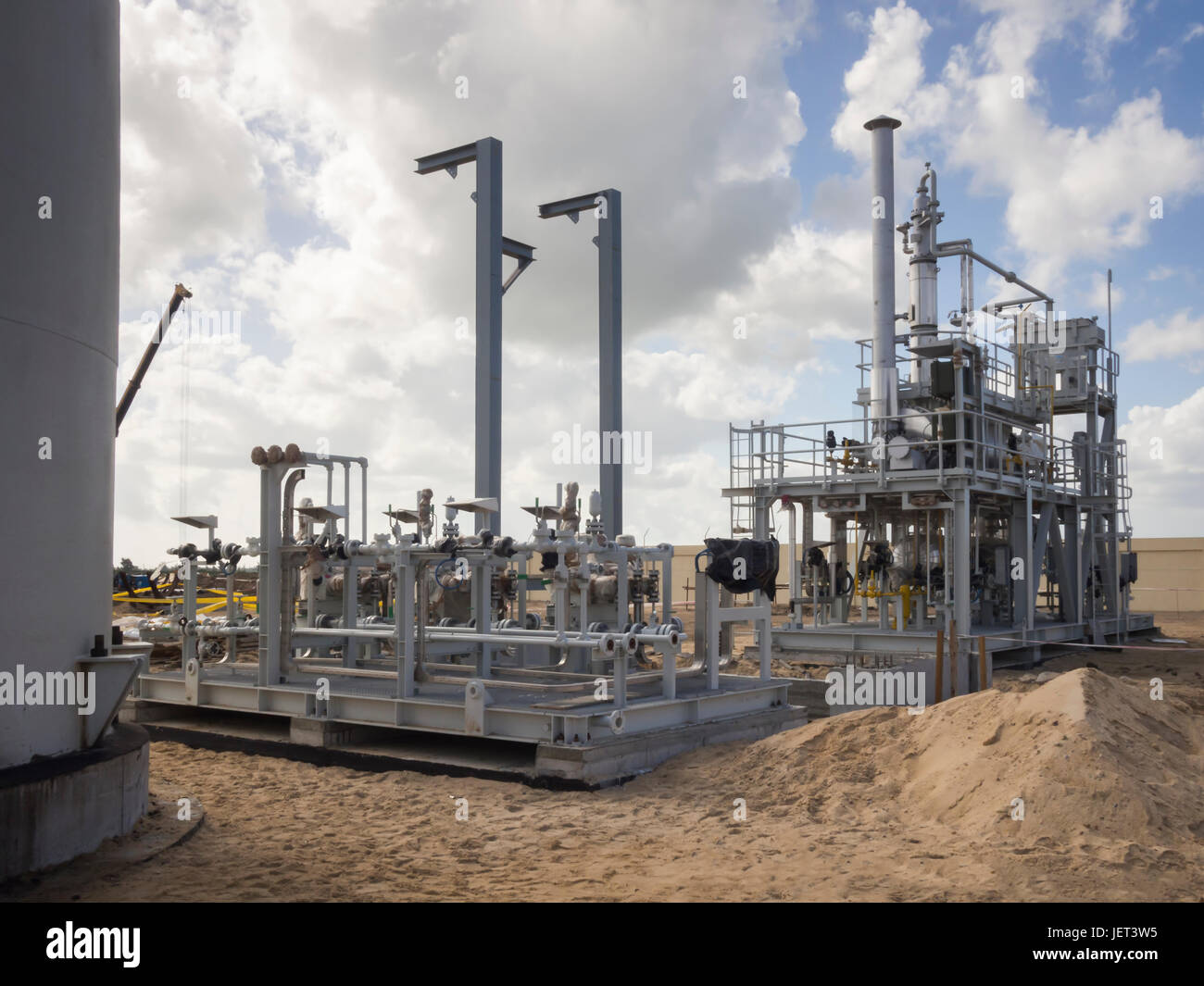 Oil and Gas Construction, Egypt, Delta Stock Photo