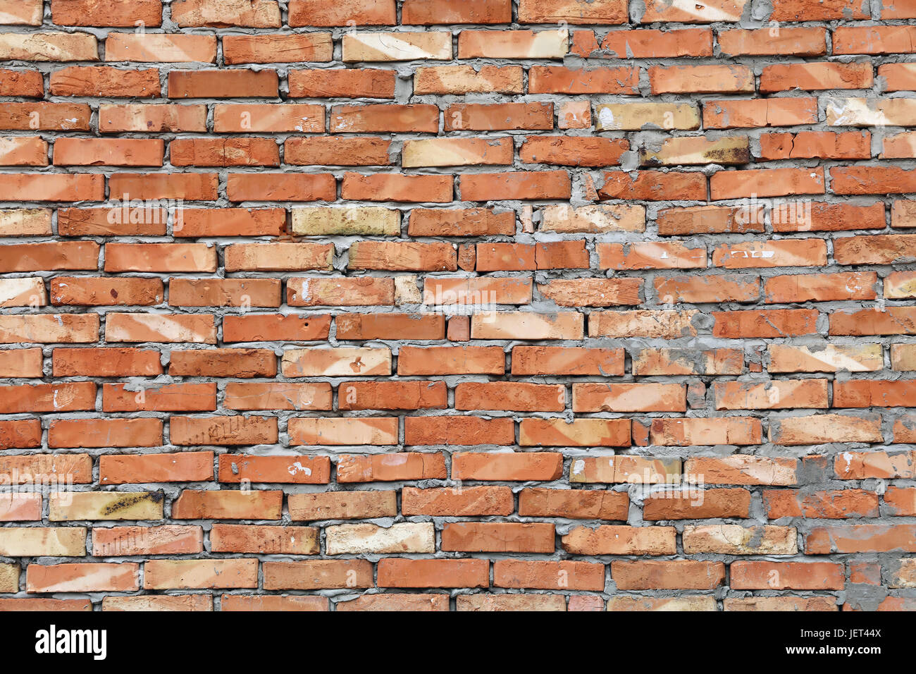 Rough Red Brown Brick Wall Background Texture Close Up Side View