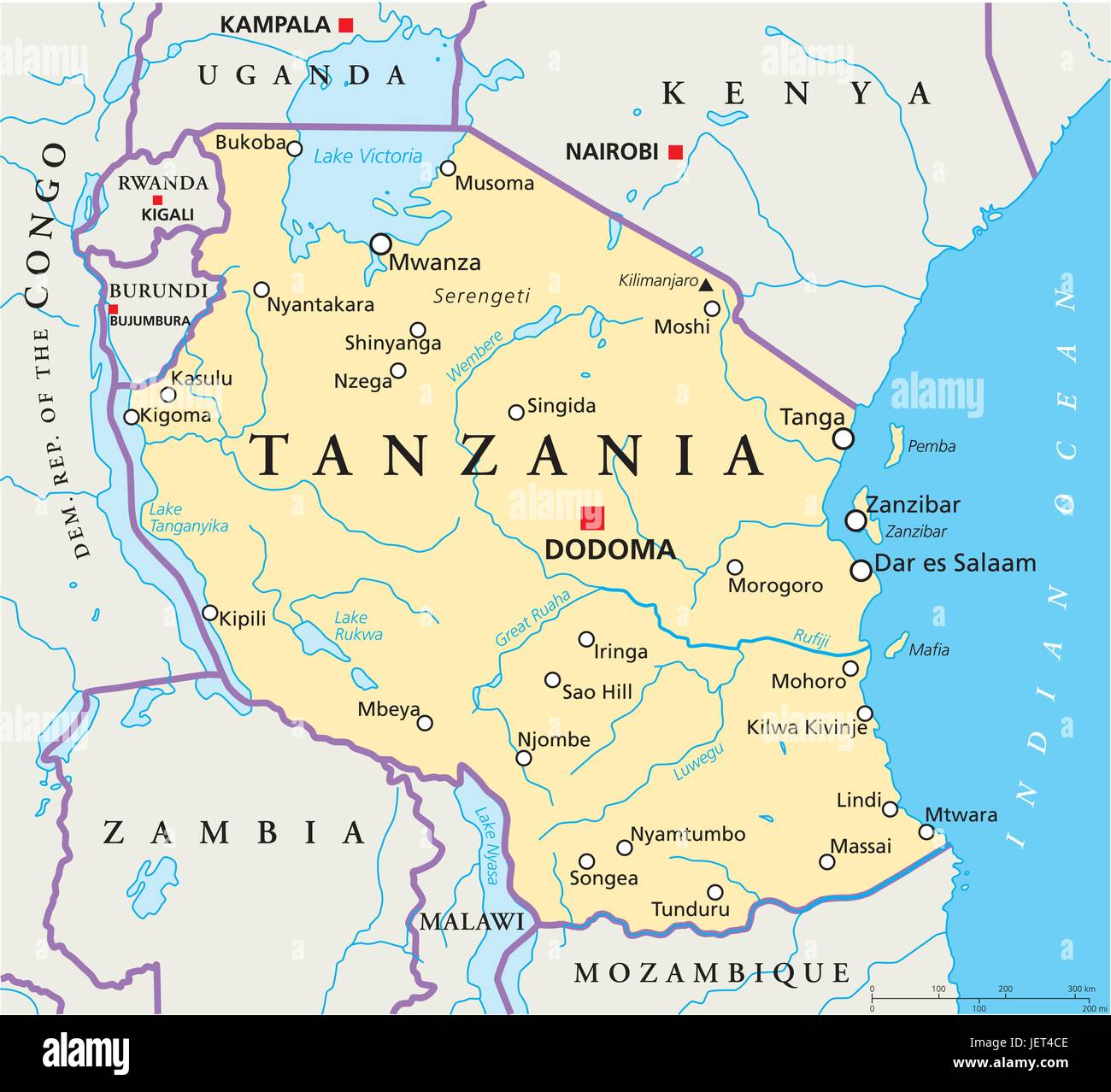 tanzania map atlas map of the world africa kenya illustration