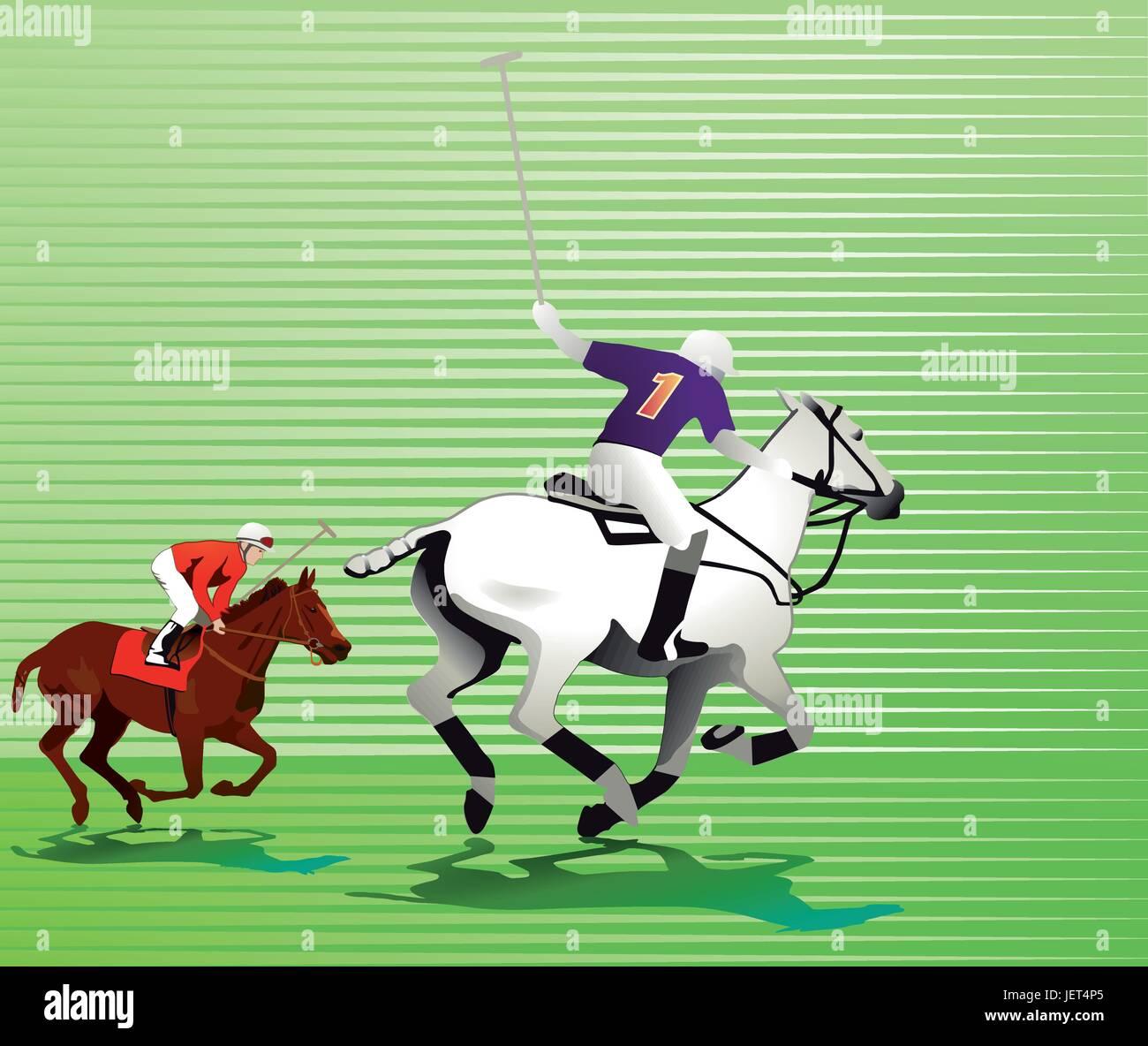 cavalry, horse, horses, gallop, mare, winner, bridle, rider, equestrian, polo, - Stock Vector