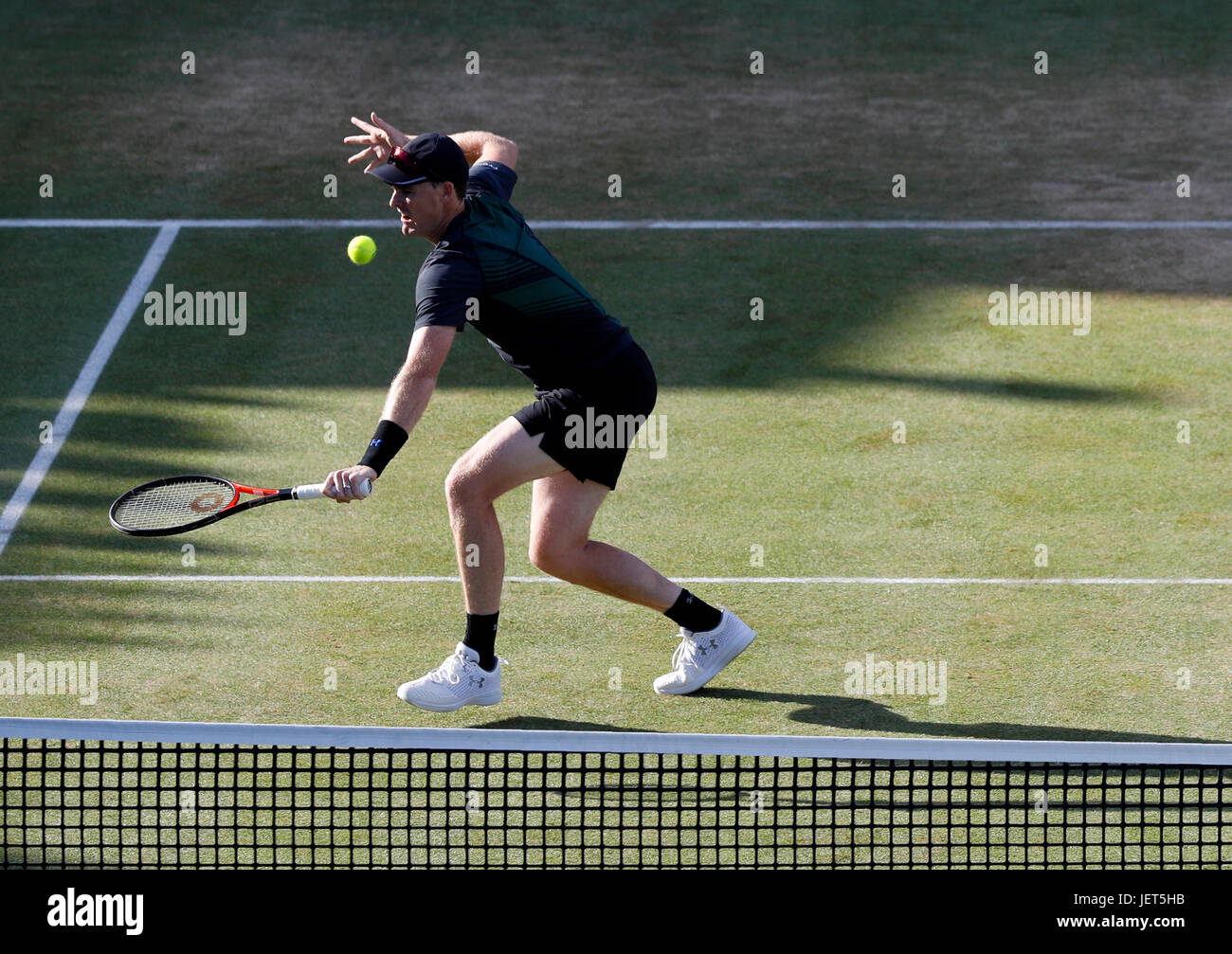 Britain's Jamie Murray during the doubles final at Queen's Club at the Aegon Championships in London 2017 Stock Photo