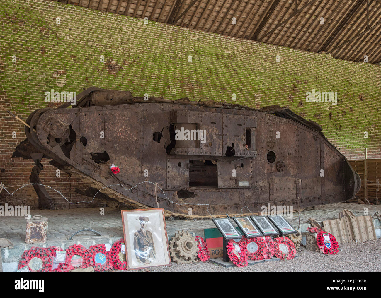 Mark IV tank Deborah which took part in the Battle of Cambrai - Stock Image