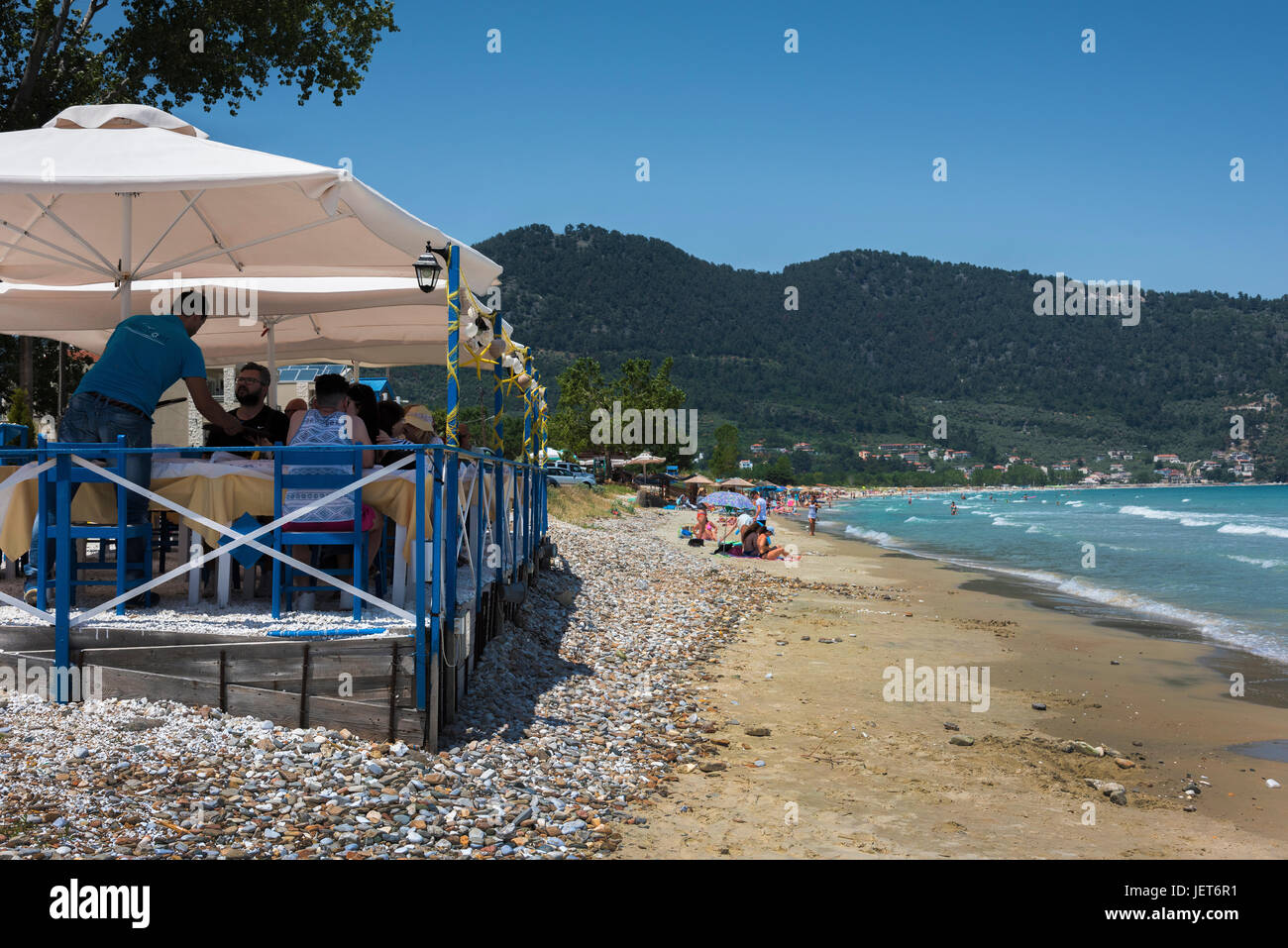 Golden Beach, Thassos. Stock Photo