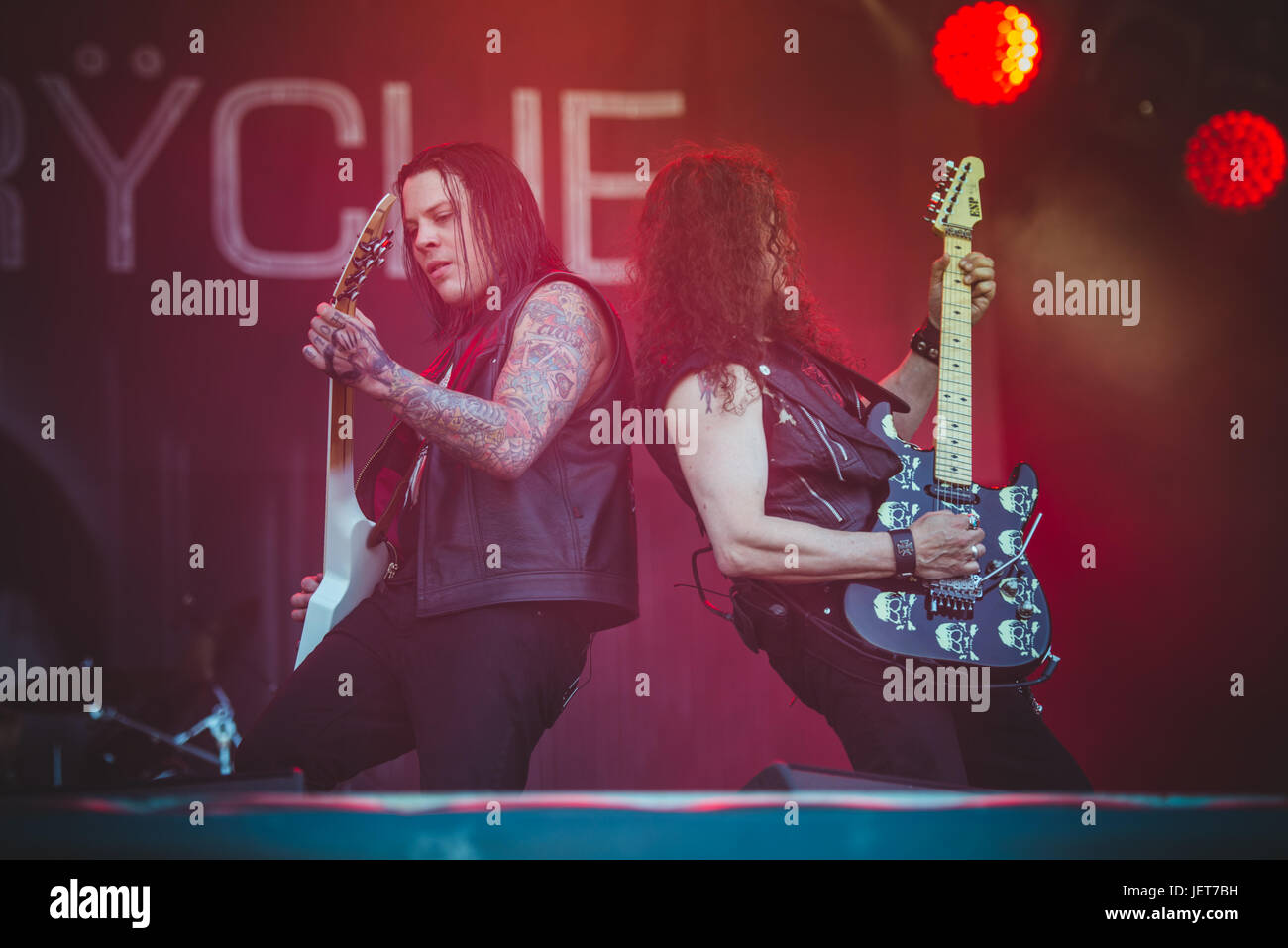 June 16, 2017: Queensryche performing live at the Hellfest Festival 2017 in Clisson, near Nantes Photo: Alessandro - Stock Image