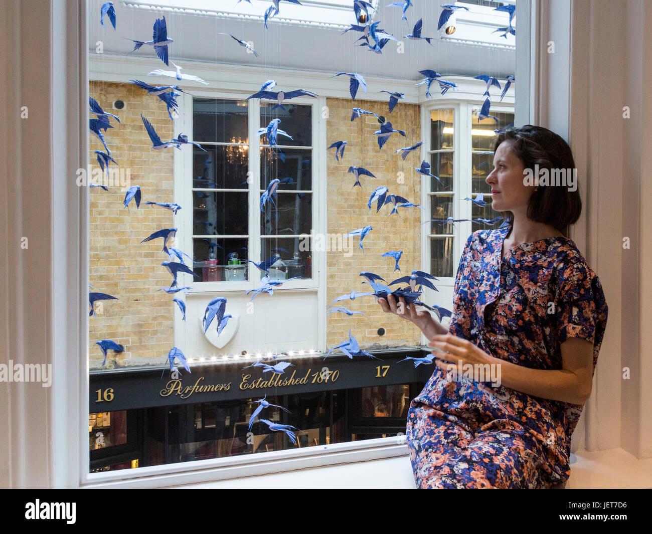 London, UK. 27 June 2017. French designer Mathilde Nivet transforms ...