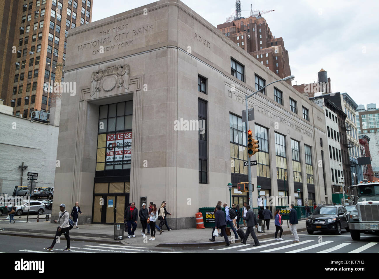 415 broadway first national city bank of New York City USA - Stock Image