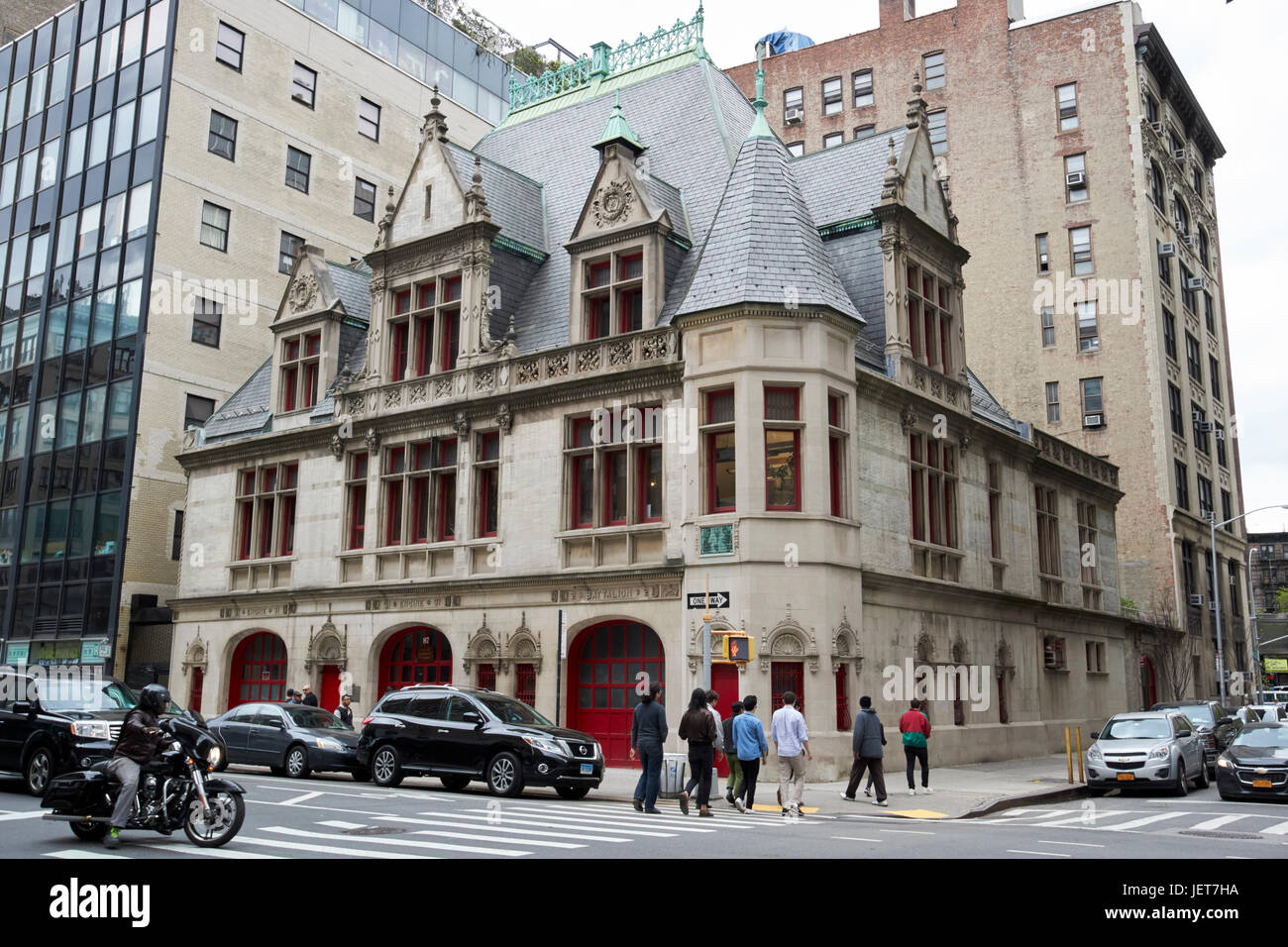 downtown community television center former engine 31 firehouse New York City USA - Stock Image