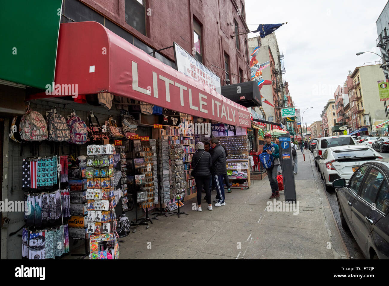 little italy gift shop store New York City USA - Stock Image