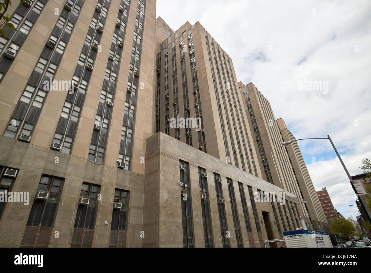 criminal courts building New York City USA - Stock Image