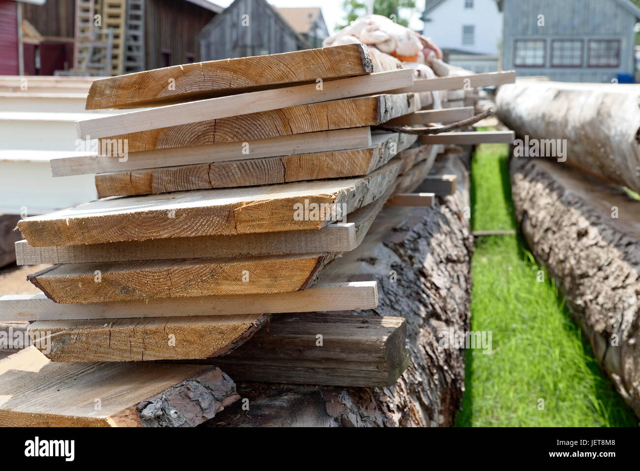 Shipbuilder's Wood Planks - Stock Image