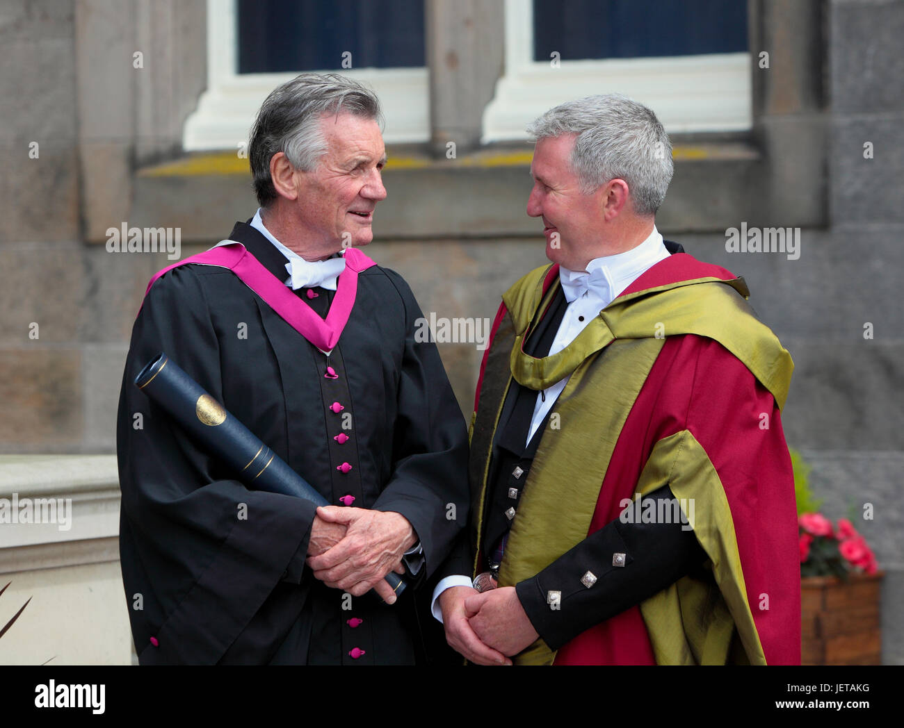 Michael Palin recieves an honorary degree from St andrews University,Fife,Scotland,UK,Friday 23rd of June 2017 - Stock Image