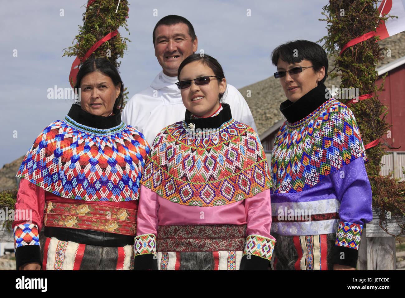 Greenland Upernavik Inuit confirmation family picture no model release North-Western Greenland person native the Arctic national costume faith ...  sc 1 st  Alamy & Greenland Upernavik Inuit confirmation family picture no model ...