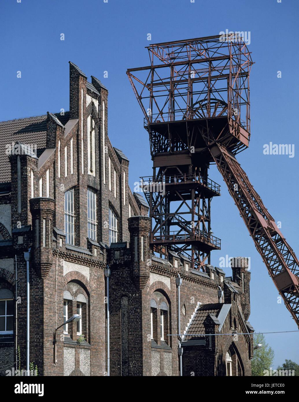 Germany, food, dysentery area, North Rhine-Westphalia, Essen-Kray, former coal-mine Bonifacius, old reward hall, - Stock Image